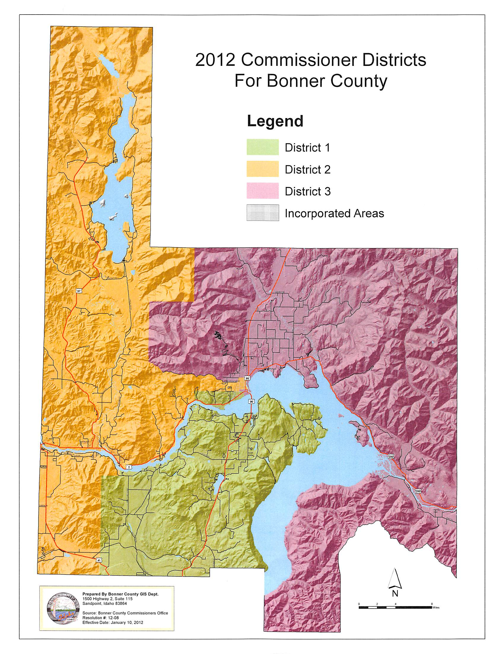 Bonner County District Maps