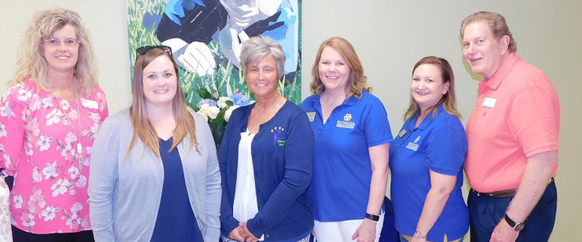 Workforce Solutions Deep East Texas team celebrates with leaders of Mary Jo Gorden Child Development Center:
