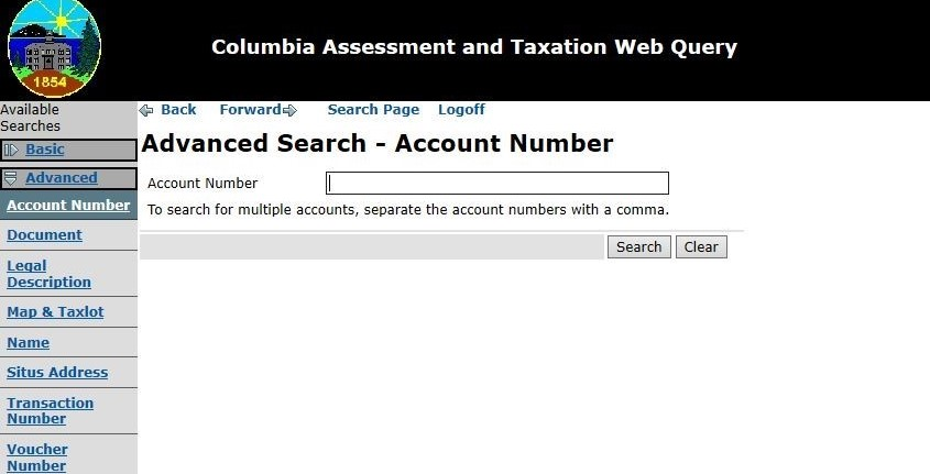 Assessment & Taxation Query Tool