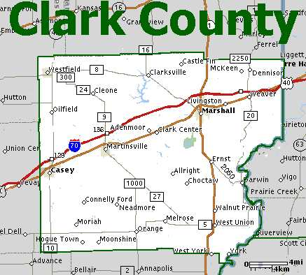 The Official Website of Clark County, IL - City Maps