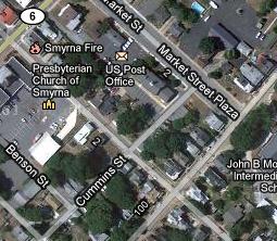 Street Level Map of Smyrna*