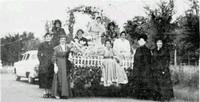 Garden Club float in 1958 Centennial Parade