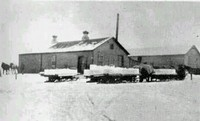 Maple Plain Creamery, 1910, during ice harvest