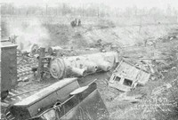 Train wreck just west of village, 1906