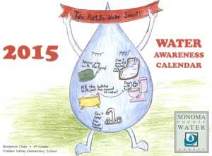 2015 Water Awareness Calendar cover