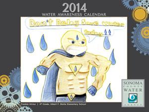 2014 Water Awareness Calendar cover