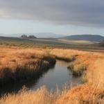 A small creek meanders through Hudeman Slough wetland.