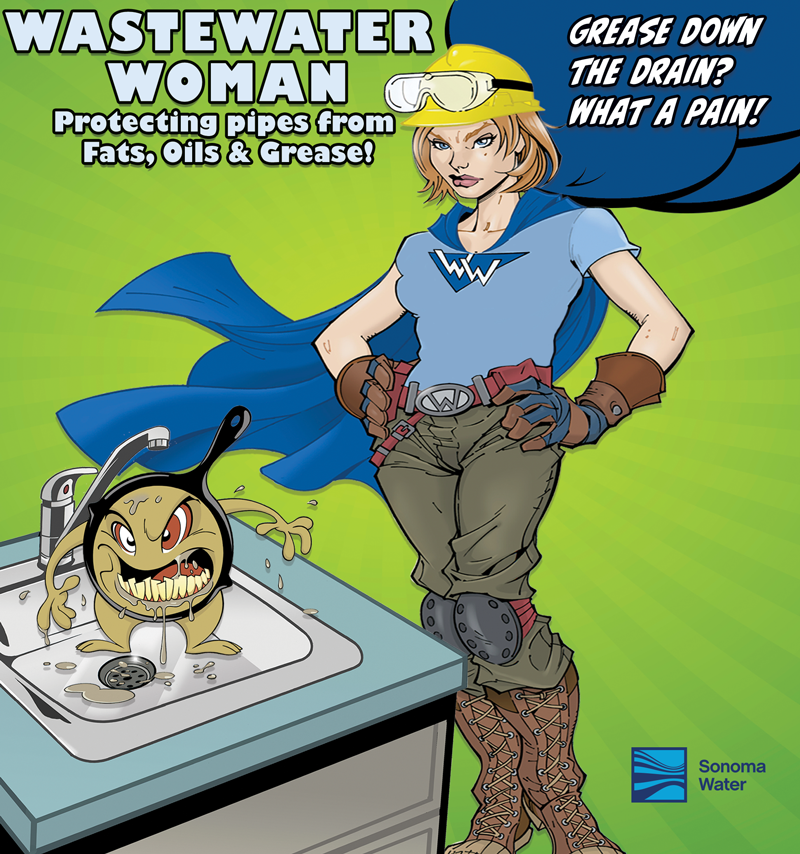 Wastewater Woman - Protecting pipes from Fats, Oils, and Grease