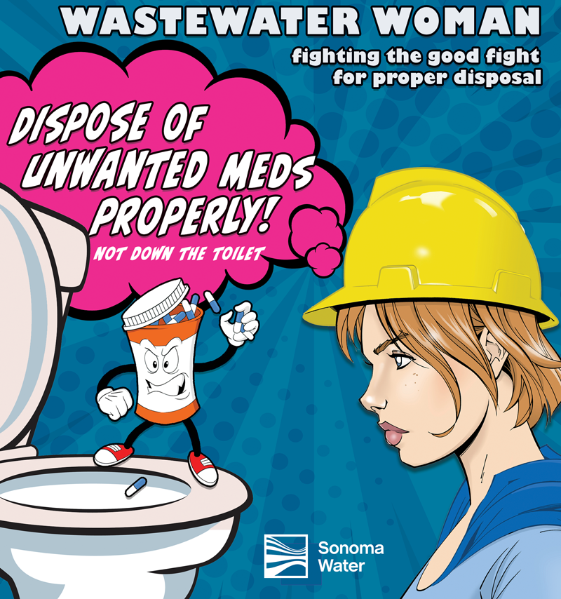Wastewater Woman - Fighting the good fight for proper disposal
