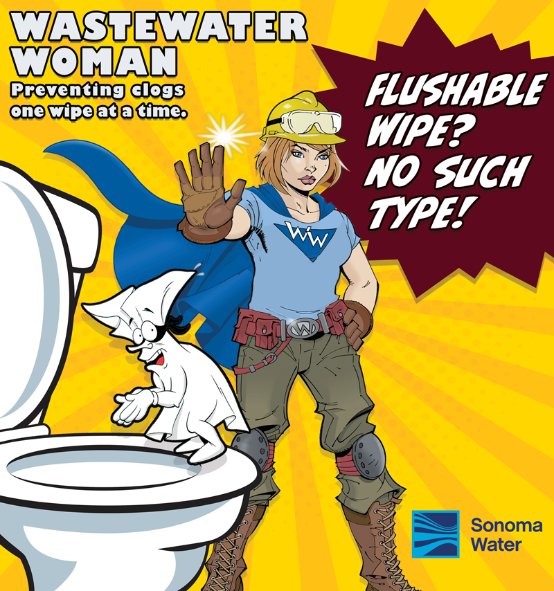Wastewater Woman - Preventing clogs one wipe at a time