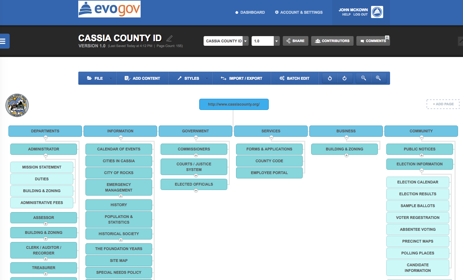 Municipal Website Design Project Guides Flow Charting