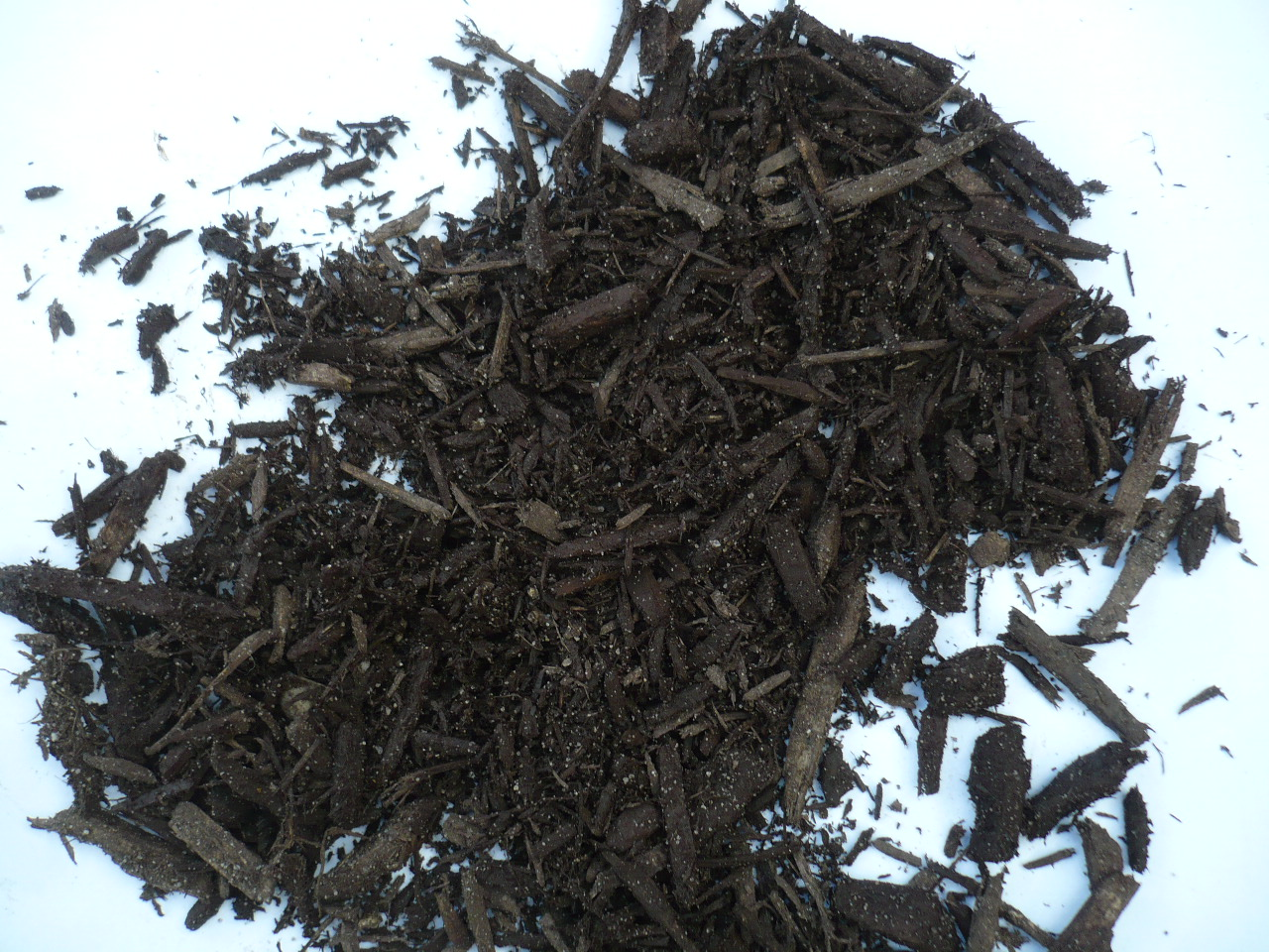 Black or Brown Wood Chips Close Up