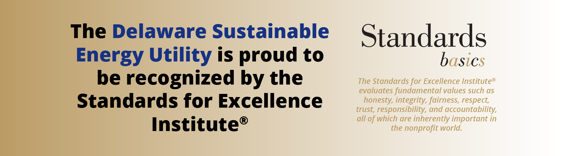 DESEU proud to be recognized by the Standards for Excellence Institute