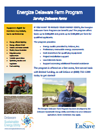 Energize Delaware Farm Program Flyer