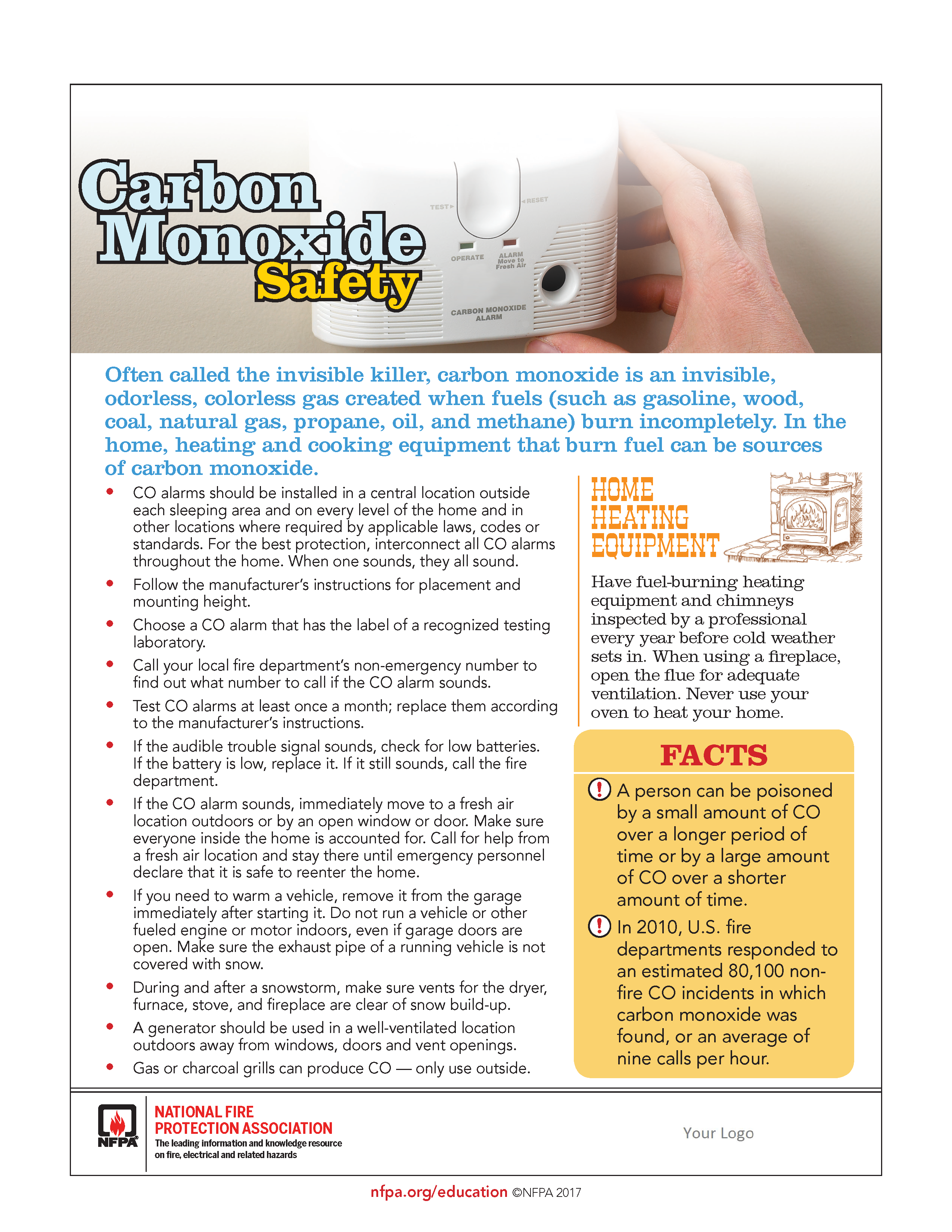 the township of verona new jersey carbon monoxide safety tips