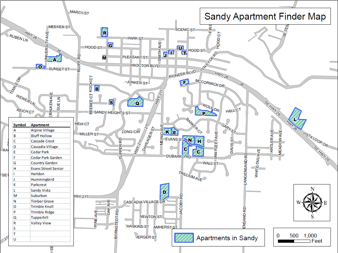 official website for the city of sandy, oregon - sandy apartment